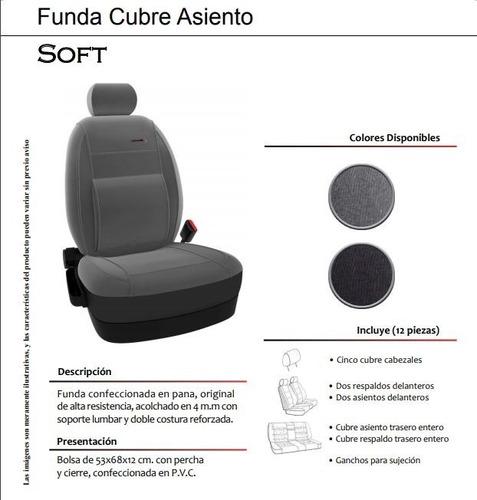 funda cubre asiento de pana original soft - s10 mkr