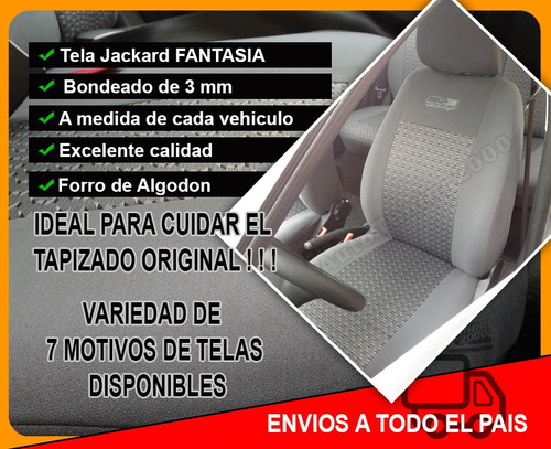 funda cubre asiento vw gol trend, power, voyage / golf, polo
