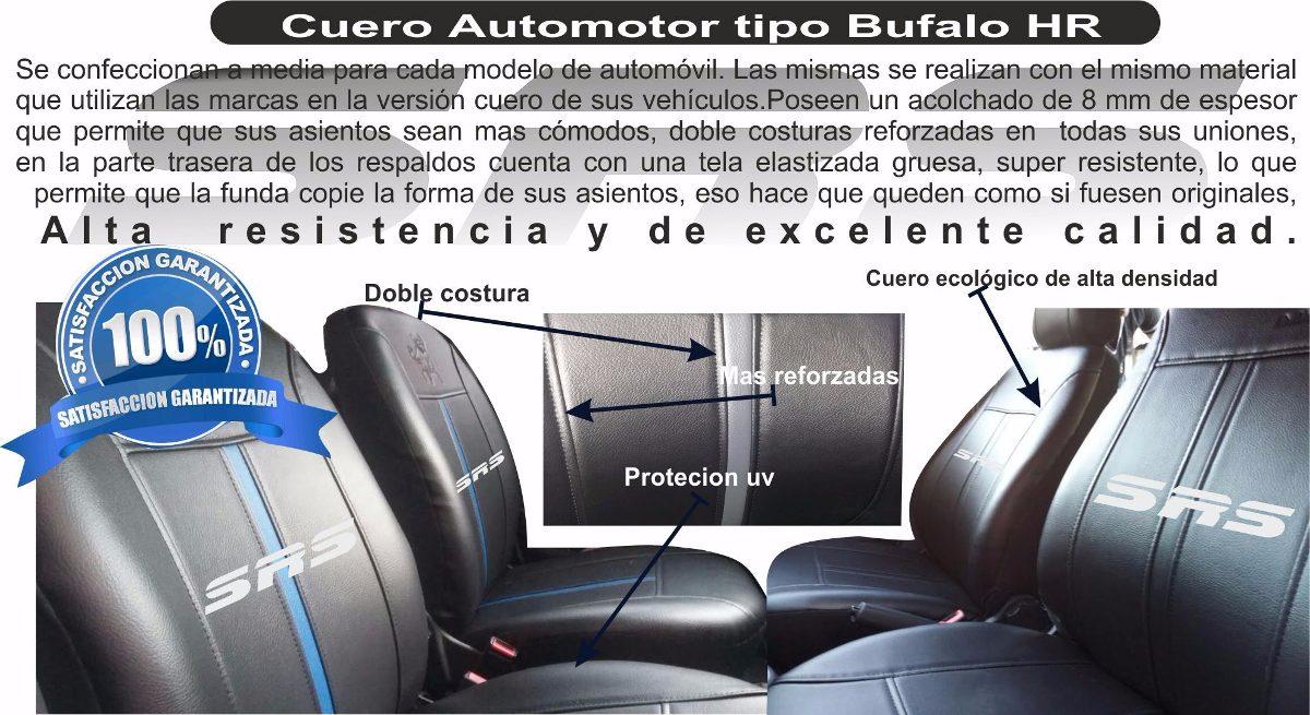 Asiento delantero cubre ajuste Citroen Berlingo I Negro Cuero Sintético