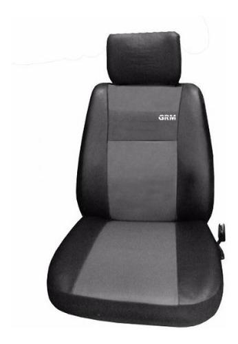 funda cubre asientos cuero + kit tuning - gris cubre volante