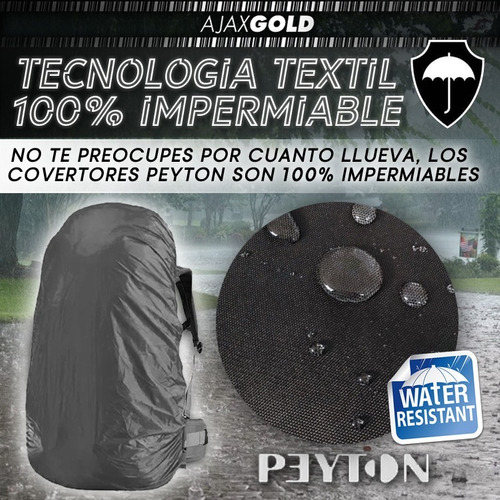 funda cubre mochila cobertor anti lluvia impermeable peyton