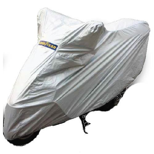 funda cubre moto goodyear impermeable uv doble costura talle