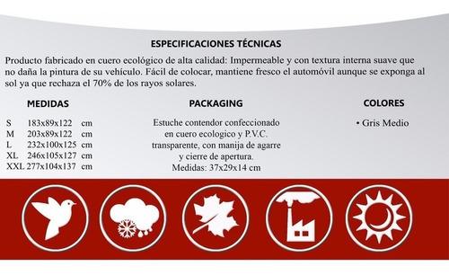 funda cubre moto impermeable protección uv + correa premium