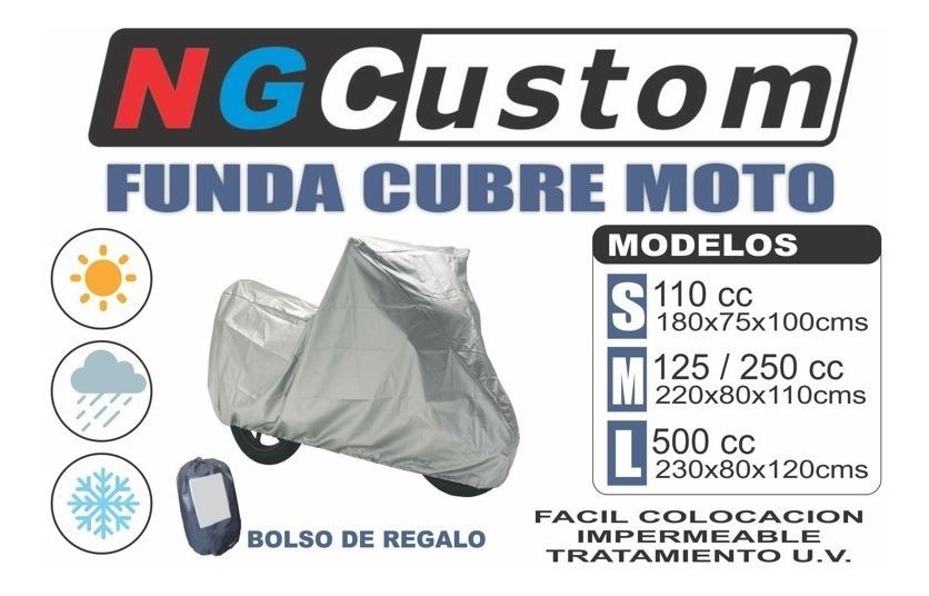 8f421f76481 Funda Cubre Moto Impermeable Uv Talle L - 500cc Bolso - $ 410,00 en Mercado  Libre