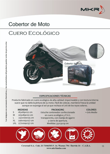 funda cubre moto suzuki v-strom 1000xt  con bordado oferta