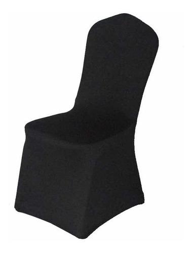 funda cubre sillas spandex para evento  blanco negro y ocre