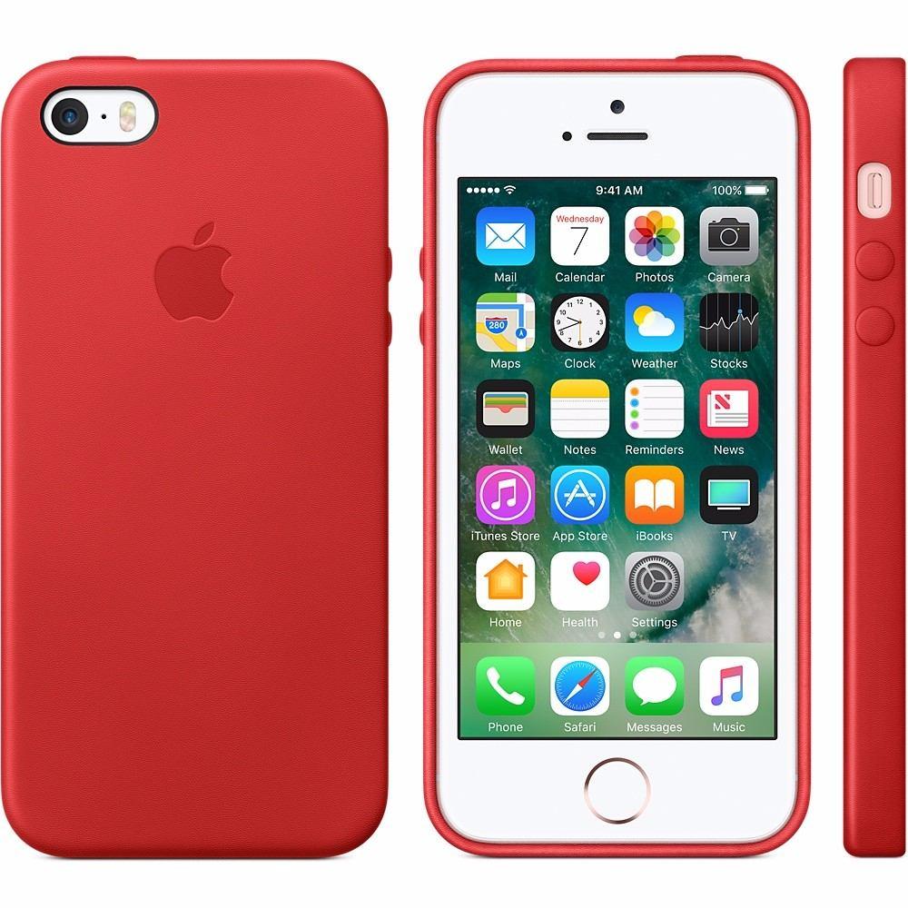 bda75ac5511 Funda Cuero iPhone 5 5s Se Apple Gorila Glass Rojo - $ 700,00 en ...