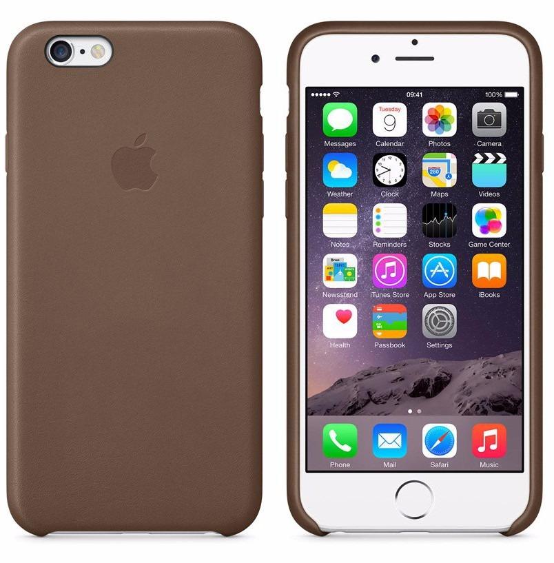 49375b9296f funda cuero iphone 6plus 6s plus apple templado 5d marron o. Cargando zoom.