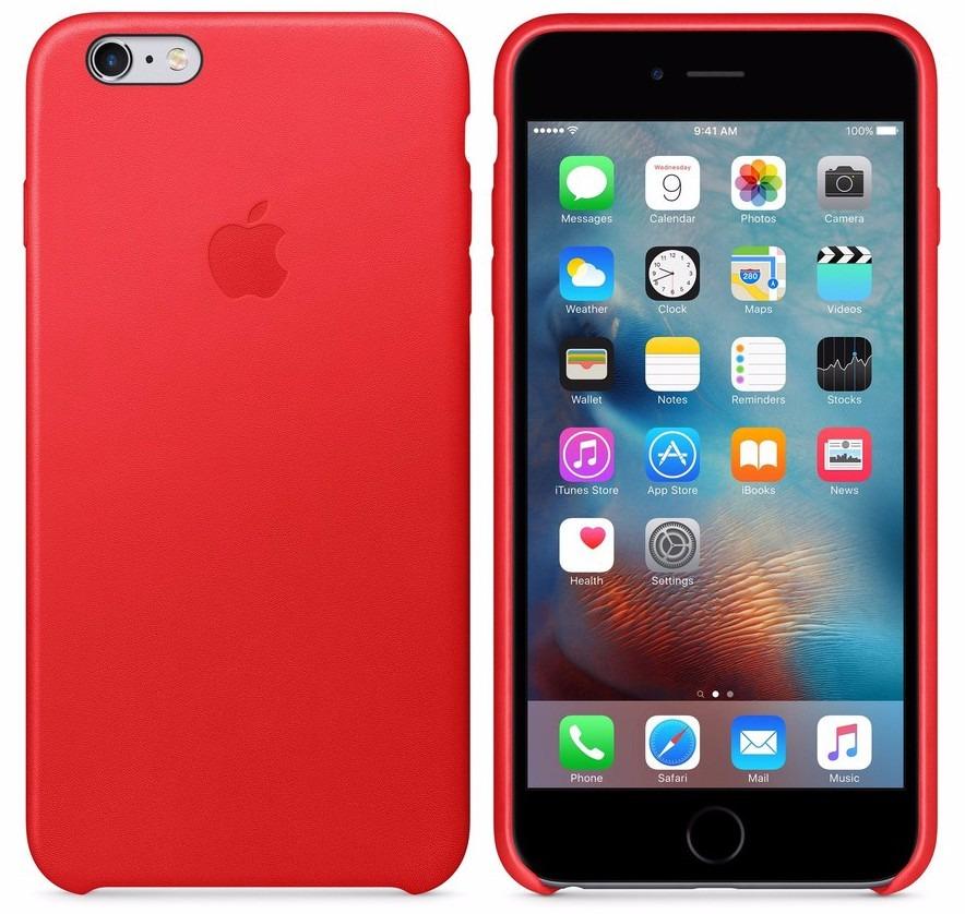 05e1d8c0cbe funda cuero iphone 6plus 6s plus apple templado 5d rojo. Cargando zoom.