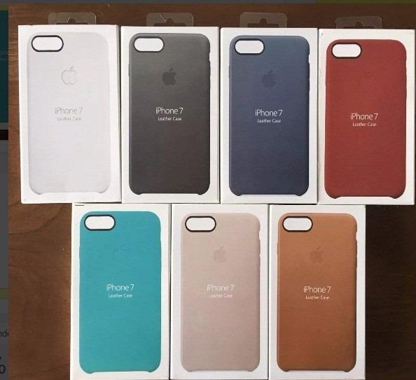 8f7a94cc11a Funda Cuero Leather Case iPhone 7 Plus Tipo Original - S/ 65,00 en Mercado  Libre