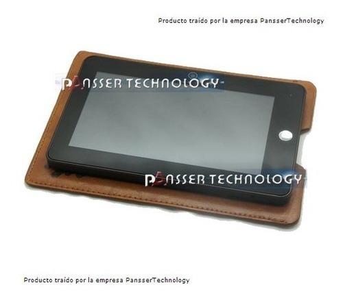 funda cuero tablet 7 , toda marcas samsung,sony,lenovo etc