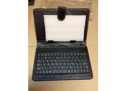 funda cuero teclado con micro usb tablet 7 con soporte