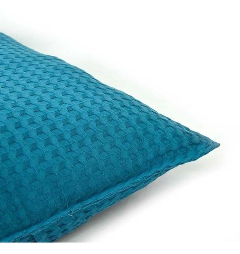 funda de almohada europea de algodón deep blue azul vianney