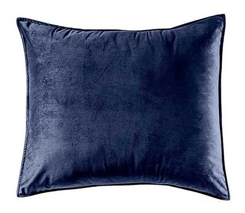 funda de almohada europea velvet azul vianney