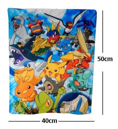 funda de almohada pokemon pikachu trico torchit calidad