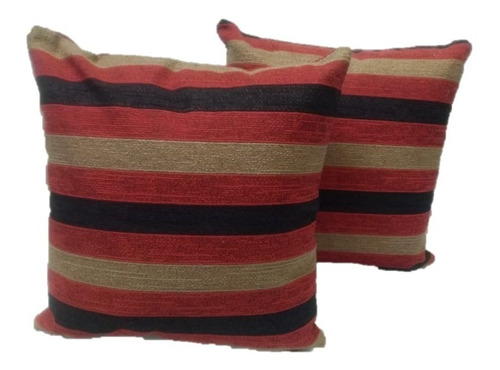 funda de almohadón en tela de chenille lola rayado cierre