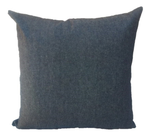 funda de almohadón en tela de jean denim con cierre nuevas