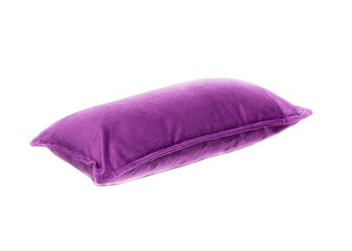 funda de almohadón pana violeta 40x20