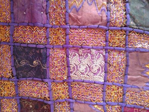 funda de almohadones hippie chic violeta nueva!