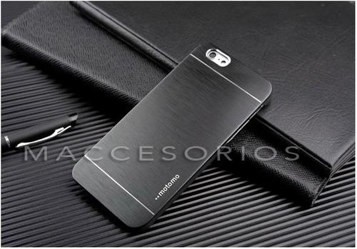 funda de aluminio para iphone 6 motomo + vidrio de regalo