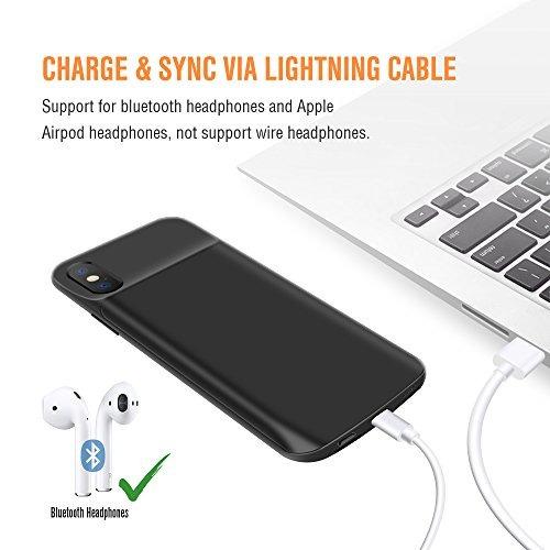 funda de batería para iphone x, 3600mah slim extender paquet