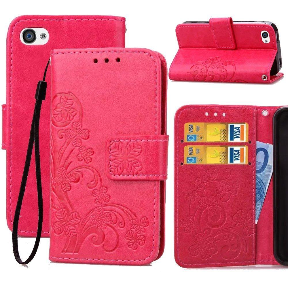 2d7b666c814 Funda De Billetera Para iPhone 4s, Funda Con Tapa De 4s Mone ...