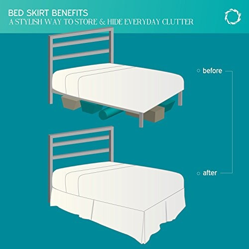 funda de cama nestl doble cepillado volante de microfibra de