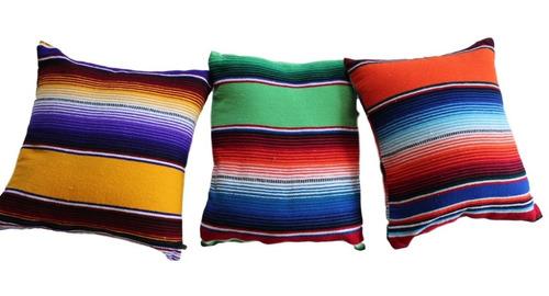 funda de cojin sarape mexicano 35 x 35 cms