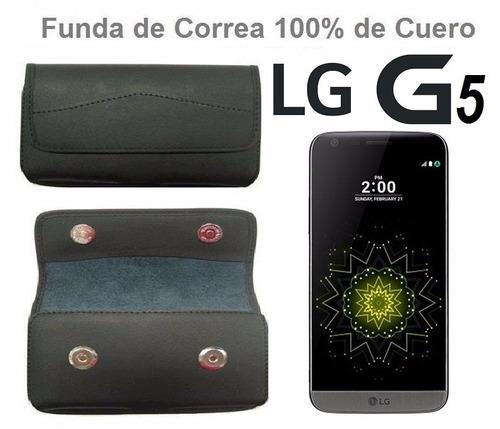 funda de cuero 100%legitimo para la correo para lg g5