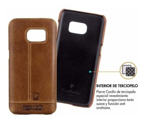 funda de cuero genuino pierre cardin galaxy s7 original