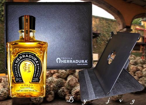 funda de cuero ipad ediccion especial de tequila herradura