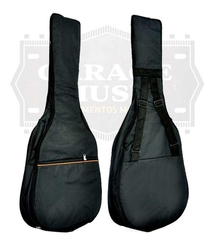 funda de guitarra criolla acolchada impermeable mochila