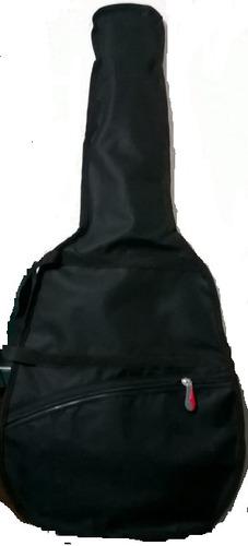 funda de guitarra en lona impermeable, correa mano y espalda