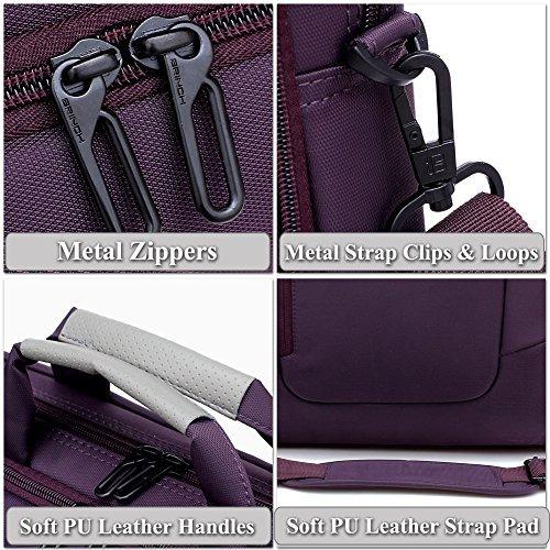 funda de laptop brinch(tm) impermeable con bolsillo lateral