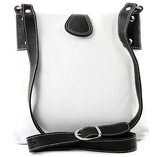 modamoda de ital bolsa de hombro//hombro hecha de cuero T143