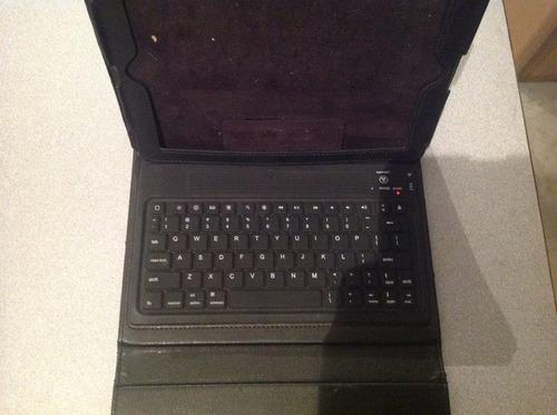 funda de piel con teclado bluetooth para ipad