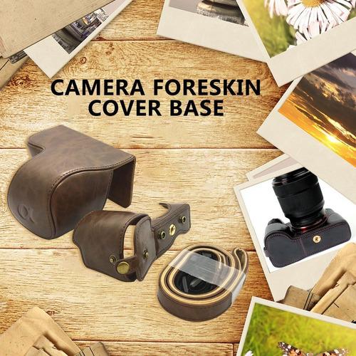 funda de piel sintética para cámara sony a6000 a6400 a6300 i
