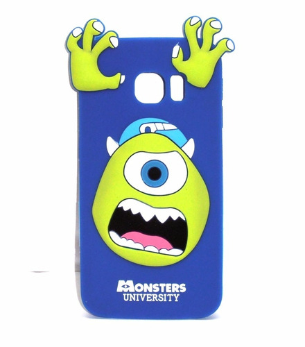 funda de silicon mike monsters samsung galaxy s6 g9250 ipp4