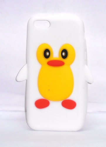 funda de silicon pingüino blanco para iphone 5c ipp4
