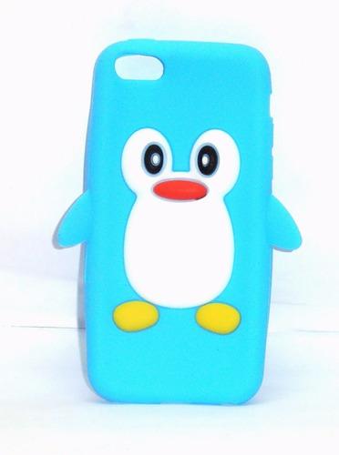 funda de silicon pingüino celeste para iphone 5c ipp4