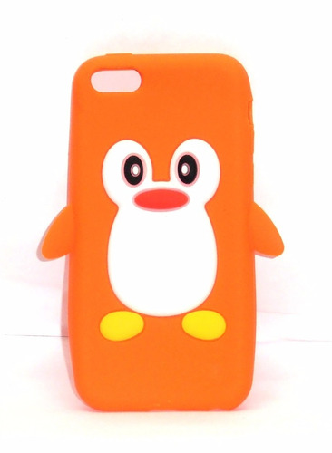 funda de silicon pingüino naranja iphone 5c ipp4