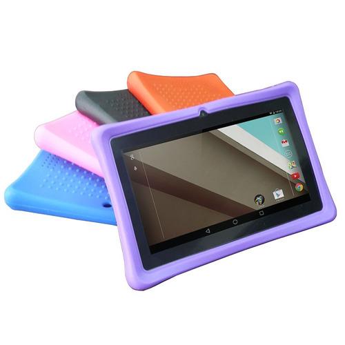 funda de silicon uso rudo para tablet 7 pulgadas 5 colores
