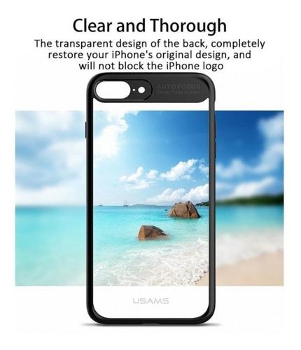 funda de silicona auto focus para iphone 7/8 plus + vidrio
