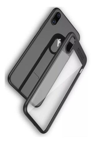 funda de silicona auto focus para iphone xs  vidrio templado