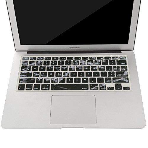 funda de teclado mosiso con diseño para macbook pro de 13 pu