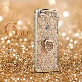 Funda Diamante Bumper Oro Rosa Tipo Swarovski iPhone X 10