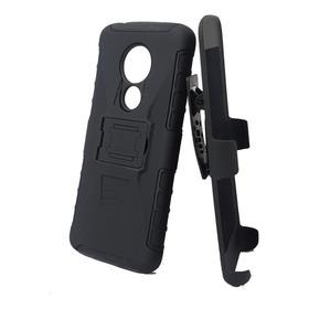 Funda Doble Antigolpe Cinturon Holder Moto G E 5 6 7 Plus Play Power One Microcentro