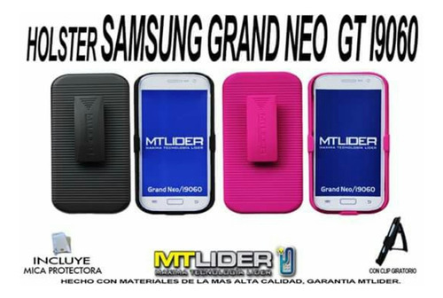 funda dual holster grand neo o grand neo plus i9070 +mica