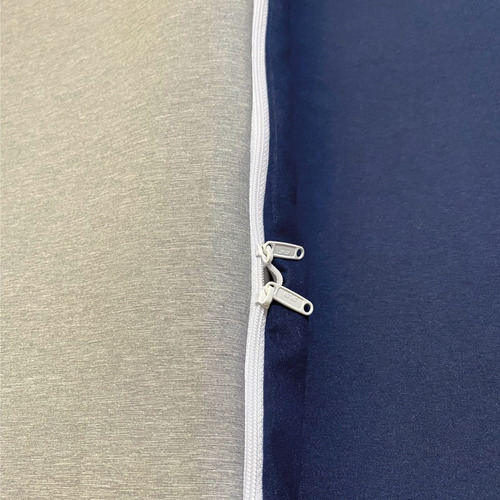 funda duvet queen doble faz melagne azul - gris