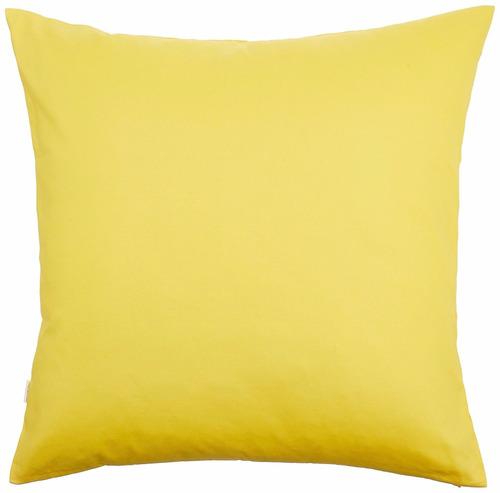 funda echa a mano tangdepot 14x14 pulgadas  amarilla